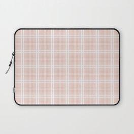 Spring 2017 Designer Color Pale Pink Dogwood Tartan Plaid Check Laptop Sleeve