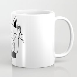 CAT EXPECTING TO EAT Coffee Mug
