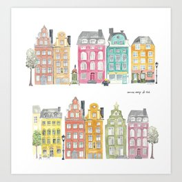 Stockholm houses Art Print