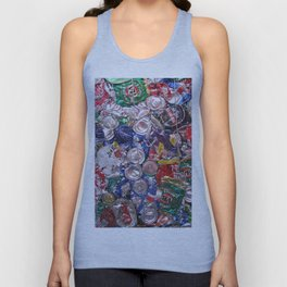 Trashed Cans Painting Over Photo Unisex Tank Top