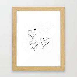 from the Heart - von Herzen Framed Art Print