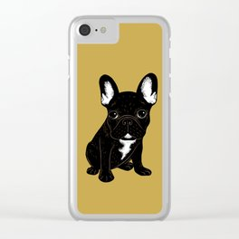 Brindle French Bulldog Clear iPhone Case