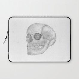 Death Skull (original work of 8yr old boy) Laptop Sleeve