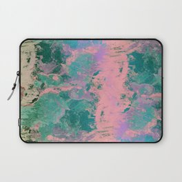 Pink and Green Paint Laptop Sleeve