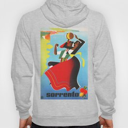 Vintage Sorrento Italy Travel Poster Hoody