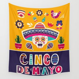 Cinco de Mayo – Scull Wall Tapestry