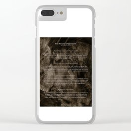 The Four Agreements 2 Clear iPhone Case