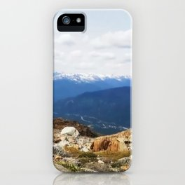 Many layers of a mountain view iPhone Case