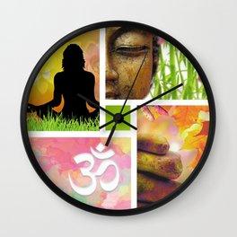 Zen & Spiritual Meditation Collage Wall Clock
