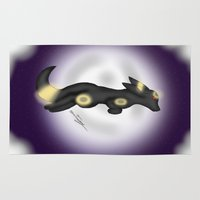 umbreon Area & Throw Rugs featuring moonlit Umbreon by Agentsassy
