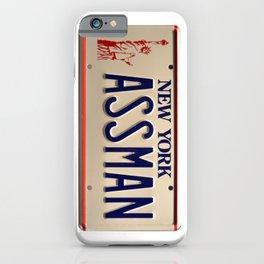Assman! Cosmo Kramer Tribute Plate iPhone Case