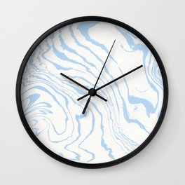 Vintage pastel blue white stylish marble Wall Clock