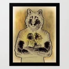 Four Wolf Moon Art Print