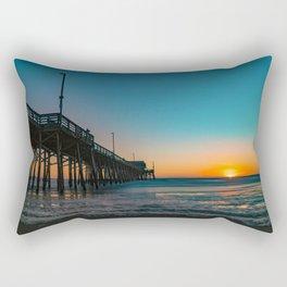 Sunset Foam at Newport Pier Rectangular Pillow