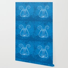 Blue Lyre Wallpaper