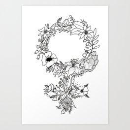 Feminist Flower  2.0 Art Print