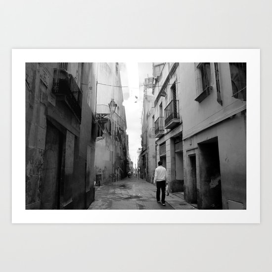 walk with clear memory Art Print