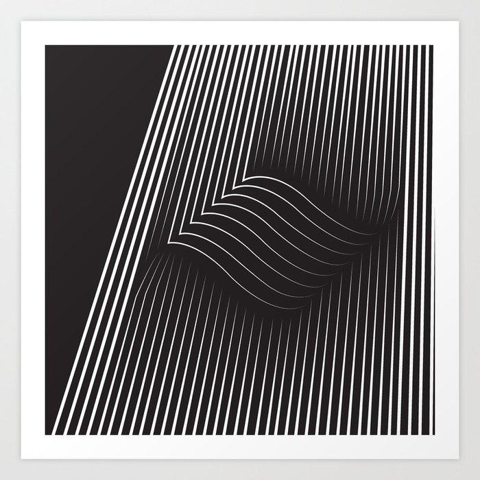 Folded Stripes Art Print