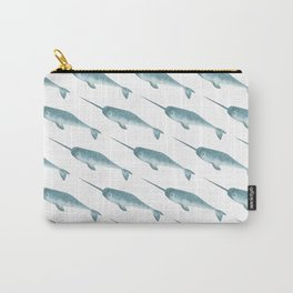Narwhal on White Carry-All Pouch