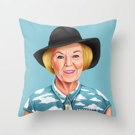 Hipstory - Queen Beatrix of the Netherlands Throw Pillow