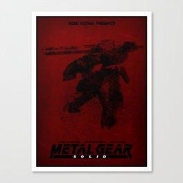 Metal Gear Rex Digital Ink-Blot Fan Art Minimalist Poster Canvas Print