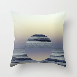 Ocean Sunrise Remix Throw Pillow