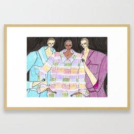 Tweed Jackets – Original Fashion art, Fashion Illustration, Fashion wall art Framed Art Print