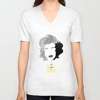 marylin monroe V-neck T-shirts featuring Marylin by Luigi D'Onofrio