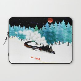 fox and steam train Laptop Sleeve