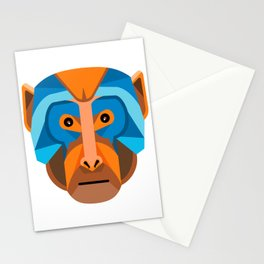 Rhesus Macaque Head Flat Icon Stationery Cards
