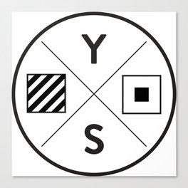 YS Logo - Black Outline Canvas Print