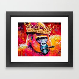 KING---GORILLA Framed Art Print