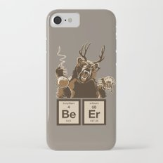 Funny chemistry bear discovered beer Slim Case iPhone 7