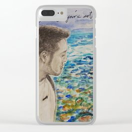 One Man's Journey Clear iPhone Case