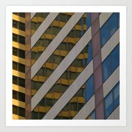Manhattan Windows - Honey Art Print