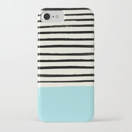 Sky Blue x Stripes iPhone Case