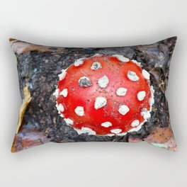The Red Mushroom Rectangular Pillow