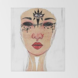 Happy Halloween - White Version Throw Blanket