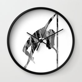 Pole Dancer Wall Clock