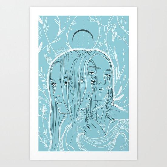 Bloom blue Art Print