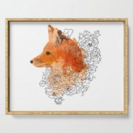 Watercolor Fox Serving Tray