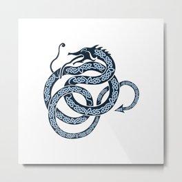 Norse Dragon Metal Print