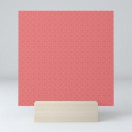Pink Salmon (Saumon) Tres Petit Geometric Pattern Mini Art Print