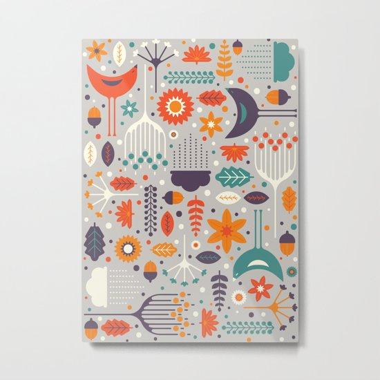Flora & Fauna Metal Print