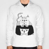 mew Hoodies featuring mew by Jen Lin Aliaga