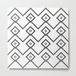 Graphic Grey Metal Print