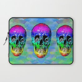 Skull disco rainbow Laptop Sleeve