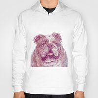 bulldog Hoodies featuring Bulldog by Ahmad Mujib