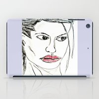 angelina jolie iPad Cases featuring ANGELINA JOLIE by JANUARY FROST