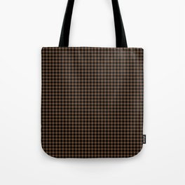 Mini Black and Brown Coffee Cowboy Buffalo Check Tote Bag